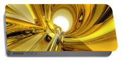 Portable Battery Charger featuring the digital art Abstract Gold Rings by Phil Perkins