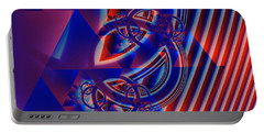 Portable Battery Charger featuring the digital art Abstract In Red And Blue by Mario Carini