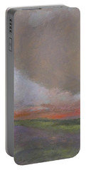Abstract Landscape - Scarlet Light Portable Battery Charger