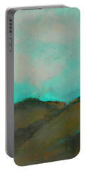 Abstract Landscape - Turquoise Sky Portable Battery Charger