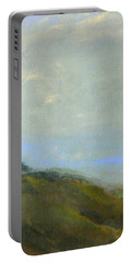Abstract Landscape - Green Hillside Portable Battery Charger