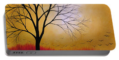 Abstract Original Tree Painting Summers Anticipation By Amy Giacomelli Portable Battery Charger by Amy Giacomelli