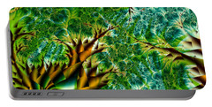 Abstract Trees Portable Battery Charger