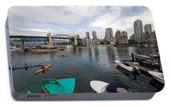Portable Battery Charger featuring the photograph Across False Creek by John Schneider