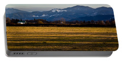 Afternoon Shadows Across A Rogue Valley Farm Portable Battery Charger by Mick Anderson
