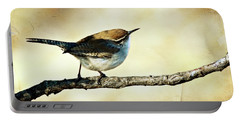 Aged Wren Portable Battery Charger by Lana Trussell