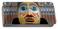 Alaska Totem Portable Battery Charger by Mark Greenberg