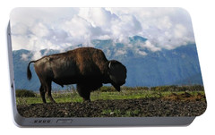 Portable Battery Charger featuring the photograph Alaskan Buffalo by Katie Wing Vigil
