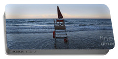 Portable Battery Charger featuring the photograph Alassio Sunset Facing East by Andy Prendy