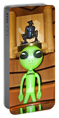 Alien In The Corner Booth Portable Battery Charger