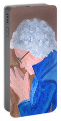 Portable Battery Charger featuring the painting All In The Mind by Lisa Brandel