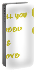 All You Need Is Love - Yellow Portable Battery Charger