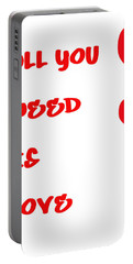 All You Need Is Love Portable Battery Charger
