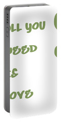 All You Need Is Love - Sage Green Portable Battery Charger