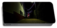 Alley With Lights Portable Battery Charger