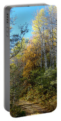 Portable Battery Charger featuring the photograph Along The Back Road by Vicki Pelham