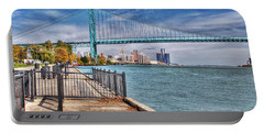 Ambassador Bridge Detroit Mi Portable Battery Charger