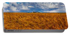 Amber Waves Of Grain Portable Battery Charger by Doug Long