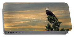 Portable Battery Charger featuring the photograph American Eagle Sunset by Dan Friend