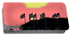 Portable Battery Charger featuring the photograph American Flags1 by Zawhaus Photography