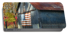 Portable Battery Charger featuring the photograph Americana Barn by Clara Sue Beym