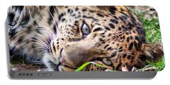 Amur Leopard Portable Battery Charger by Lynne Jenkins