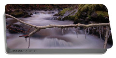 Portable Battery Charger featuring the photograph An Icy Flow by Gavin Macrae
