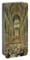 An Interior View Of Westminster Abbey On The Commemoration Of Handel's Centenary Portable Battery Charger