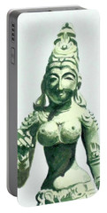 Portable Battery Charger featuring the painting An Oriental Statue At The Toledo Museum Of Art-4 by Yoshiko Mishina