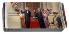 Portable Battery Charger featuring the photograph Andrew Jackson At The First Capitol Inauguration - C 1829 by International  Images