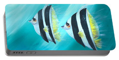 Angel Fish Portable Battery Charger by Bernadette Krupa