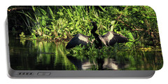 Anhinga Spreading Wings Portable Battery Charger
