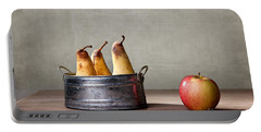 Apple And Pears 01 Portable Battery Charger by Nailia Schwarz