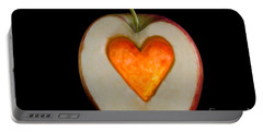 Apple With A Heart Portable Battery Charger