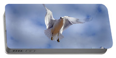Portable Battery Charger featuring the photograph Applying Brakes In Flight by Clayton Bruster