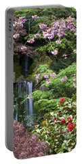 Arching Cherry Blossoms Portable Battery Charger