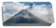 Portable Battery Charger featuring the photograph Arenal Eruption by Eric Tressler