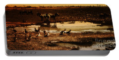 Portable Battery Charger featuring the photograph Around The Pond by Lydia Holly