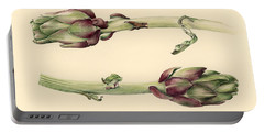 Artichokes Portable Battery Charger by Alison Cooper
