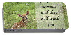 Portable Battery Charger featuring the photograph Ask The Animals by Jeannette Hunt