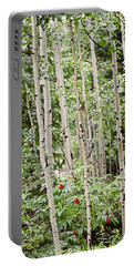 Aspens And Red Berries Portable Battery Charger