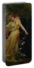At The First Touch Of Winter Summer Fades Away Portable Battery Charger