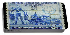 Portable Battery Charger featuring the photograph Automobile Association Of America by Andy Prendy
