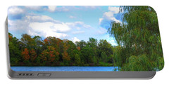 Portable Battery Charger featuring the photograph Autumn At Hoyt Lake by Michael Frank Jr