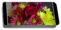Portable Battery Charger featuring the digital art Autumn Boquet by Debbie Portwood