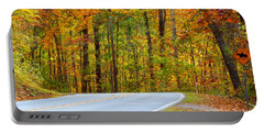 Portable Battery Charger featuring the photograph Autumn Drive by Lydia Holly
