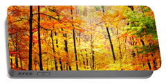 Portable Battery Charger featuring the photograph Autumn Forest by Randall Branham