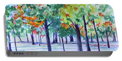 Autumn In The Park Portable Battery Charger by Jan Bennicoff