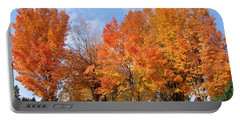 Autumn Leaves Portable Battery Charger by Athena Mckinzie