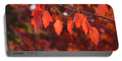 Autumn Leaves In Medford Portable Battery Charger by Mick Anderson